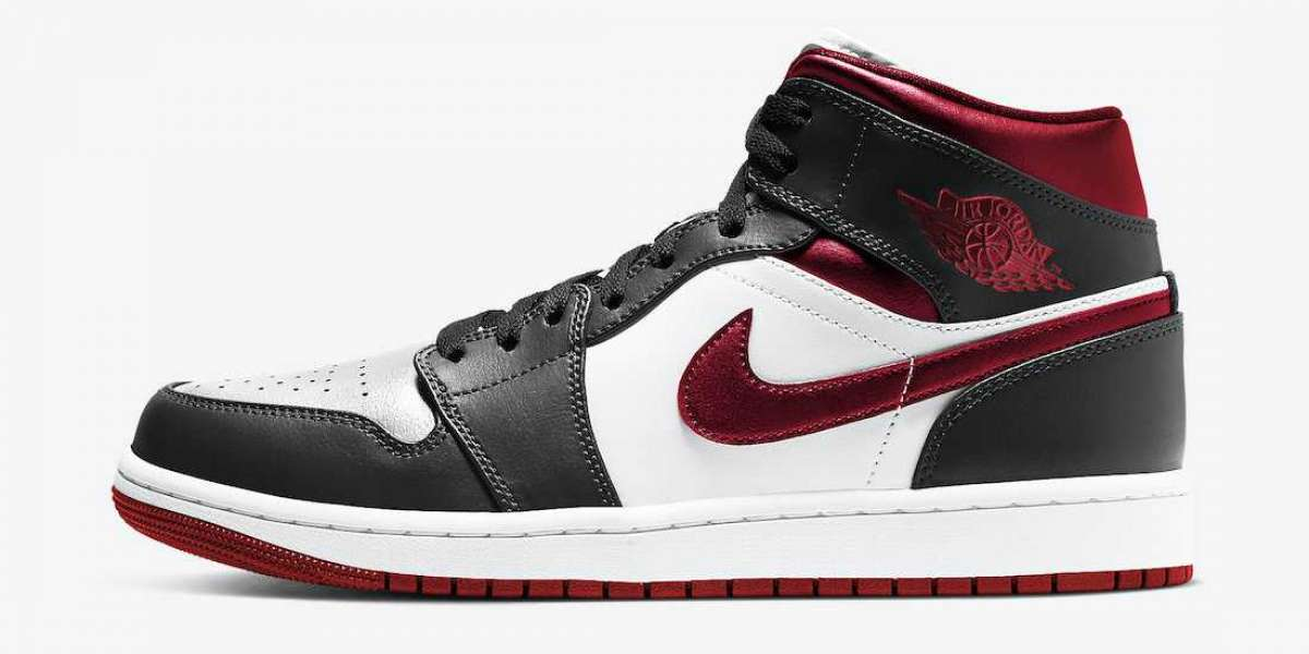 "Latest Air Jordan 1 Mid ""Metallic Red"" Basketball Shoes 554724-122"