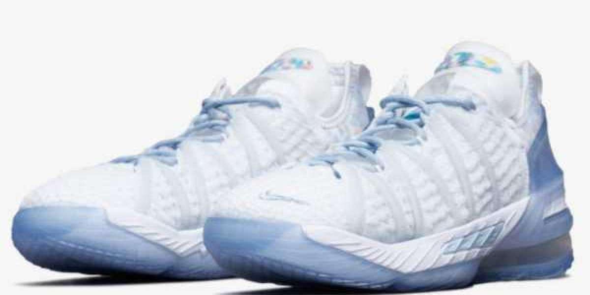"Where To Buy Nike LeBron 18 NRG GS ""Blue Tint"" Basketball Shoes CT4677-400 ?"