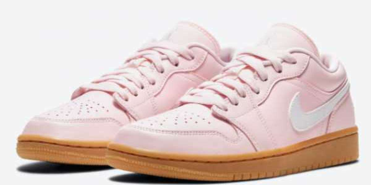 """DC0774-601 Air Jordan 1 Low """"Pink Gum"""" will be officially released in female specs in the near future"""